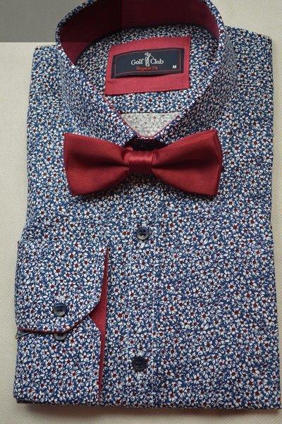 Idealnie pasuje do granatowej koszuli we wzory