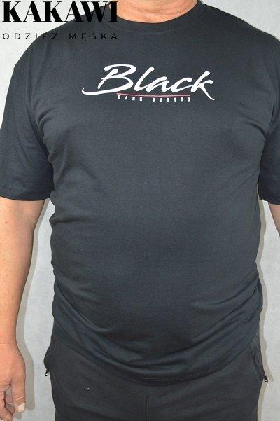 T-shirt duży czarny