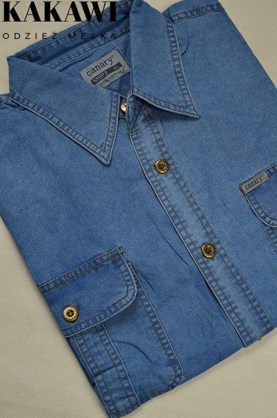 Koszula jeansowa nadwymiar męska