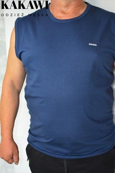 T-shirt bez rękawa granatowy nadwymiar.