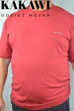 T-shirt duży bordowy