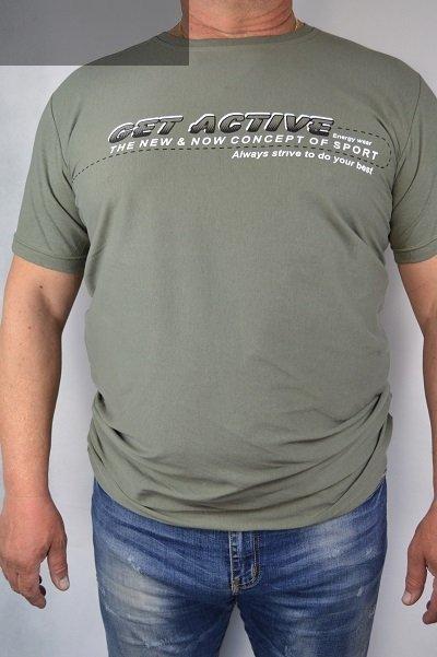 T-shirt oliwkowy nadwymiar
