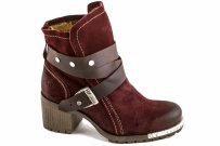 Botki Fly London LOK Wine Dk Brown Oil Suede