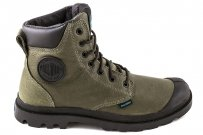 Trapery Palladium PAMPA SPORT CUFF WATERPROOF Army Green Black 72991312