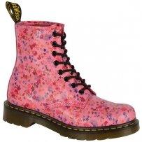 Buty Dr. Martens 1460 W Acid Pink Little Flowers