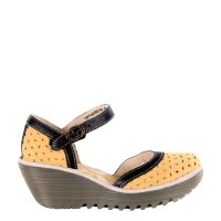 Sandały Fly London YVEN 029 Bumblebee Black Concrete Cupido Mousse P501029010