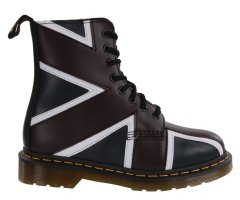Botki Dr. Martens PASCAL BRIT Navy OXBlood White Smooth 22774410