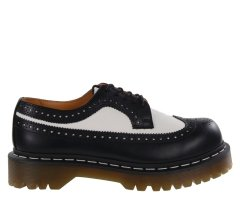 Półbuty Dr. Martens 3989 BROGUE SHOE BEX Black White Smooth 10458001