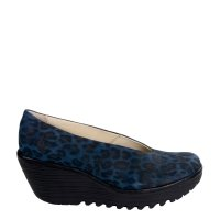 Czółenka Fly London YAZ Navy Black Cheetah P500025248