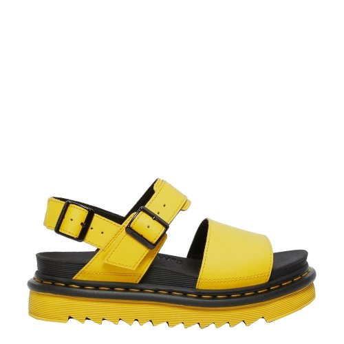 Sandały Dr. Martens VOSS STRAP SANDALS Yellow Hydro Leather 26541703