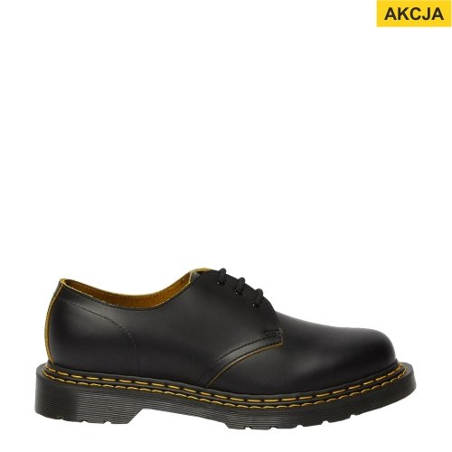 Półbuty Dr. Martens 1461 DOUBLE STICH Black+Yellow Slice 26101032