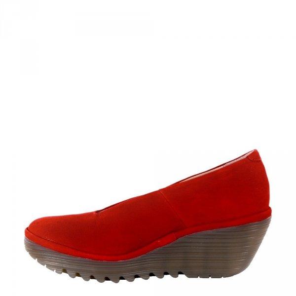 Czółenka Fly London YAZ Lipstick Red Cupido P500025230
