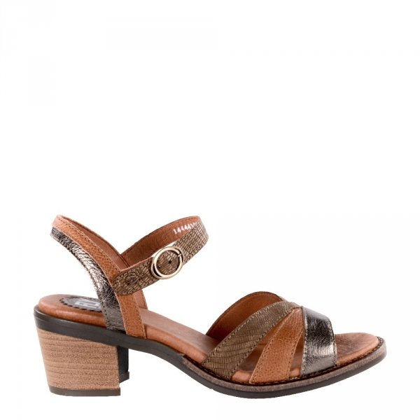 Sandały Fly London ZEUS 441 Bronze Tan Brown Idra Janeda Li P144441001
