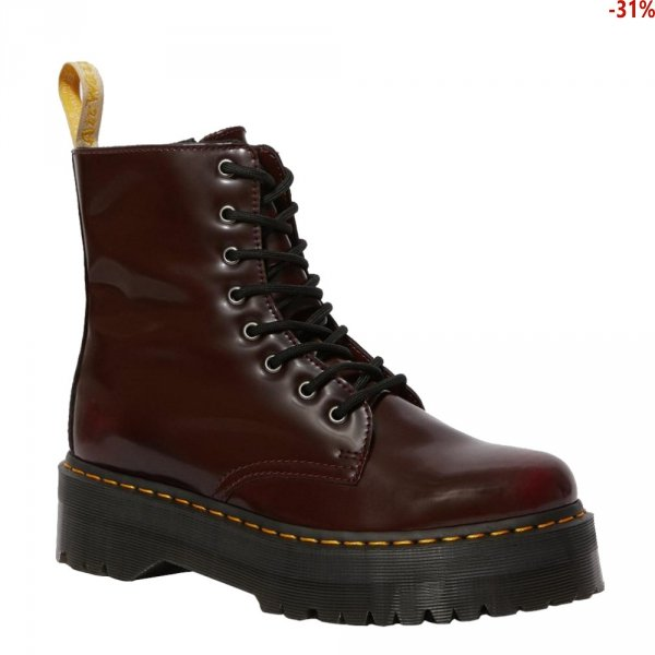 Buty Dr. Martens JADON II Cherry Red Oxford Brush VEGAN 22563600