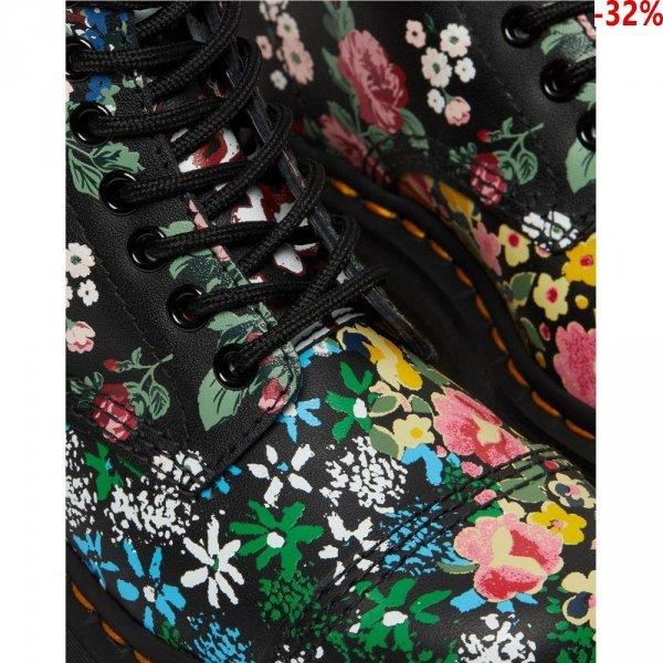 Buty Dr. Martens SINCLAIR Bex Floral Mash up Black Backhand 27128001