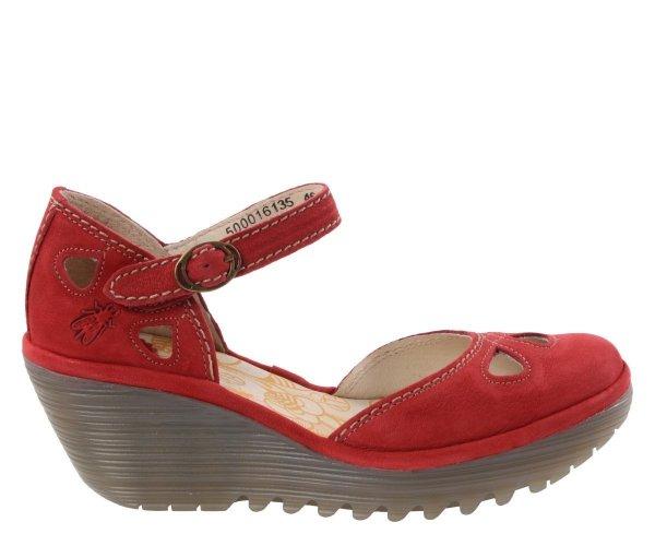 Sandały Fly London YUNA Lipstick Red Cupido P50001613