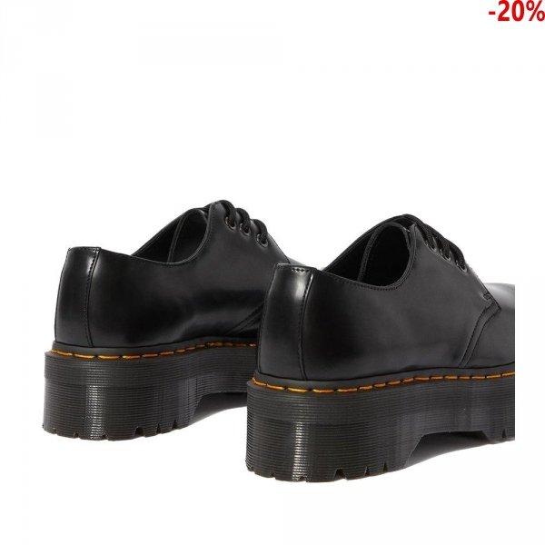 Półbuty Dr. Martens 1461 QUAD PLATFORM Black Polished Smooth 25567001