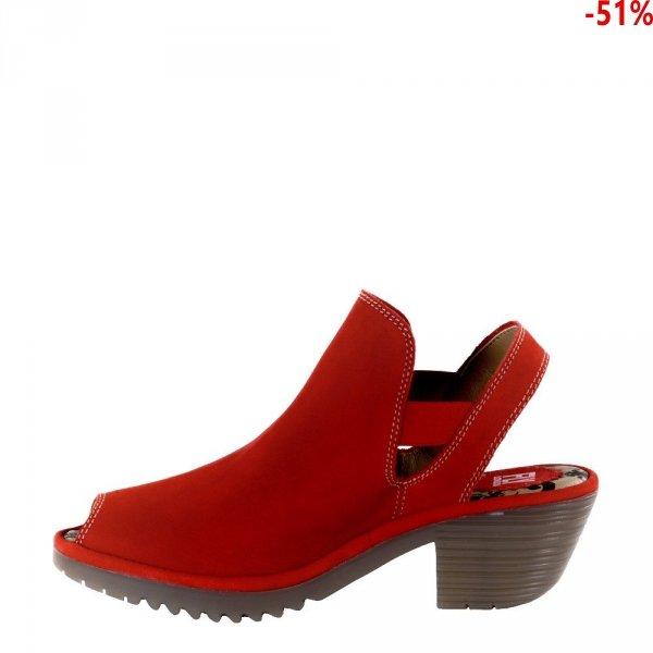 Sandały Fly London WARI 952 Lipstick Red Cupido P500952002