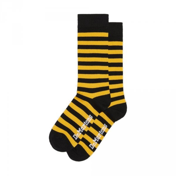 Skarpety Dr. Martens THIN STRIPE Yellow Black AC694703