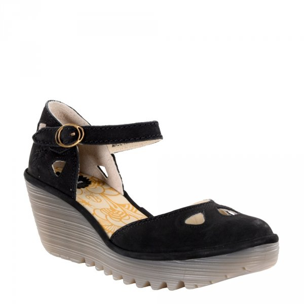 Sandały Fly London YUNA Black Cupido Cristal Sole P500016142