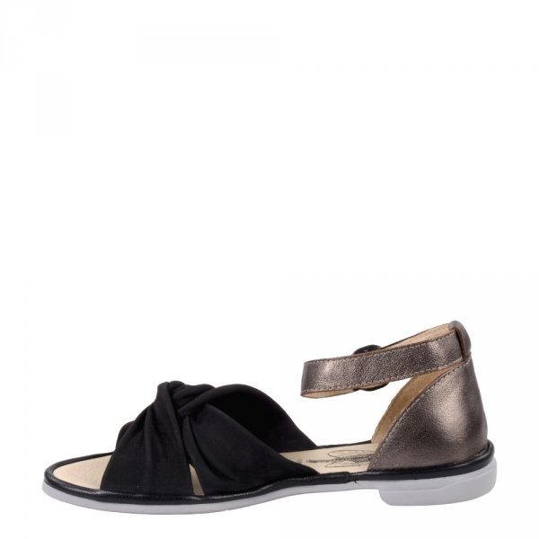 Sandały Fly London COFA167 Black Bronze Black Cupido Mousse Idra P501167000