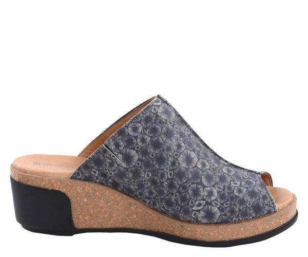 Klapki El Naturalista LEAVES N5005 Black Coral Fantasy Leather