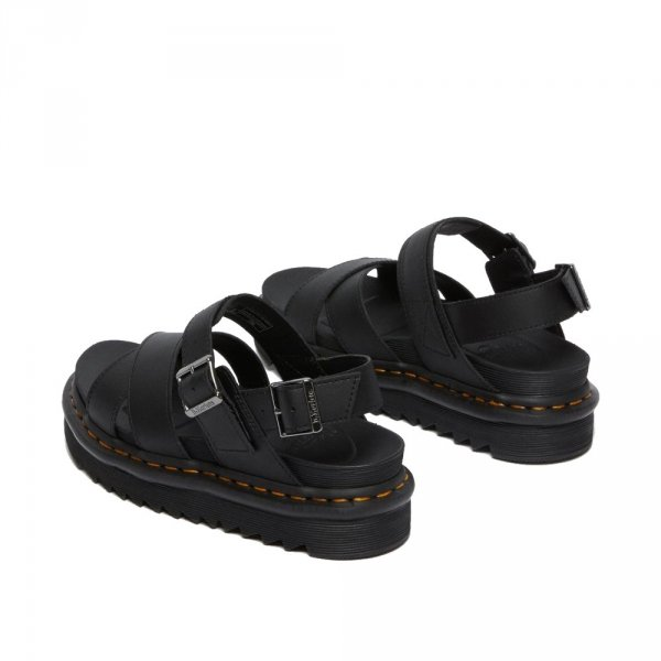Sandały Dr. Martens VOSS II STRAP SANDALS Black Hydro Leather 26799001