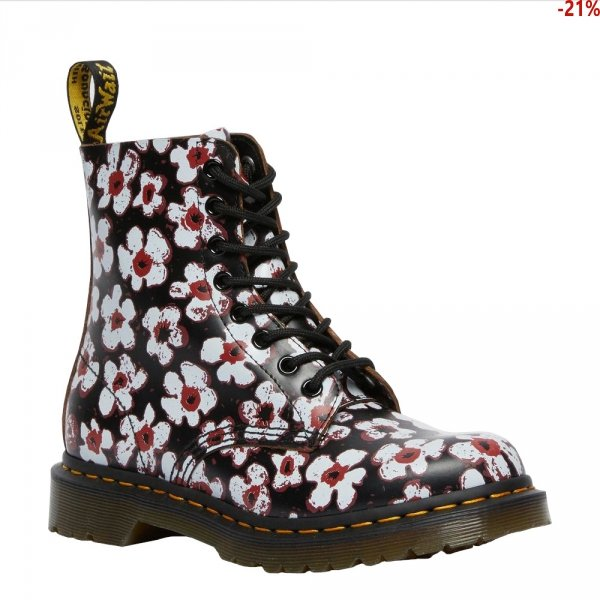Buty Dr. Martens 1460 PASCAL FLORAL LEATHER Multi Vintage Smooth 26456002