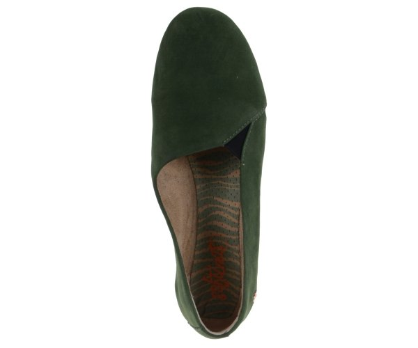 Balerinki Softinos AKO 416 Dark Green Nobuck Lea