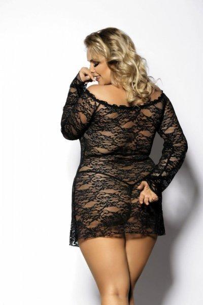 ORANGINA black chemise XXL+ ( czarna halka )