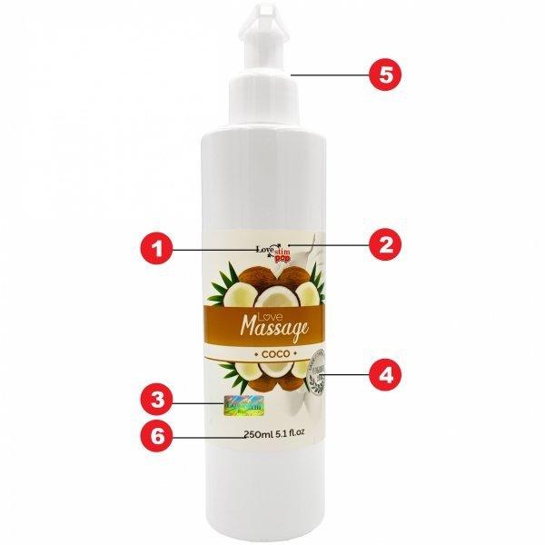 Żel do masażu i lubrykant w jednym Kokosowy zapach 250ml