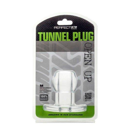 Perfect Fit - Ass Tunnel Plug rozmiar M (przeźroczysty)