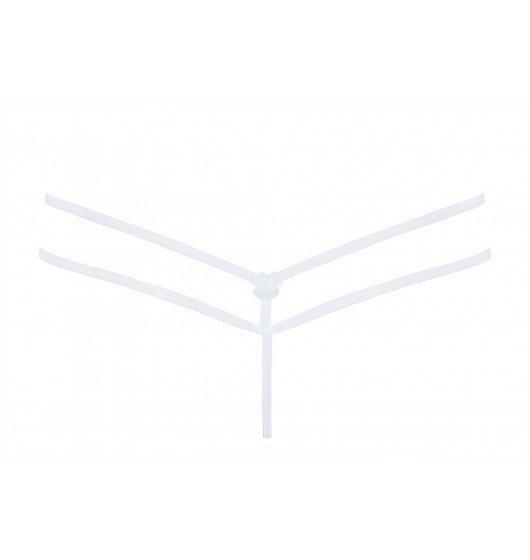 Peach stringi białe XL