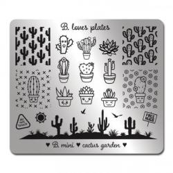 Stamping Schablone B.mini Cactus Garden