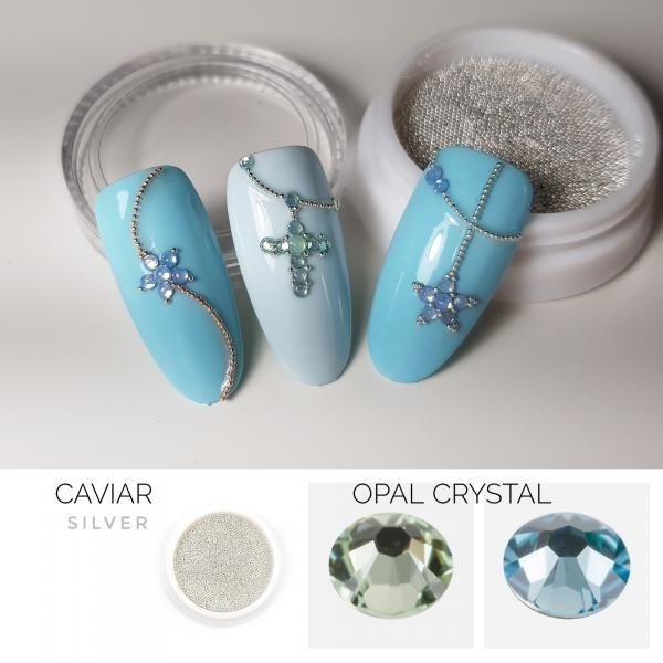 Micro Perlen KAVIAR 0.6mm - SILVER 5g