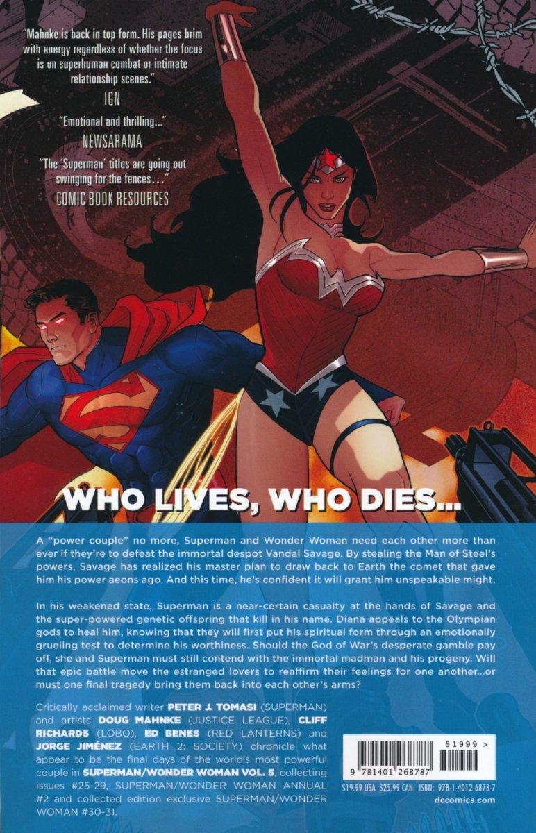 SUPERMAN WONDER WOMAN VOL 05 A SAVAGE END SC (Oferta ekspozycyjna)