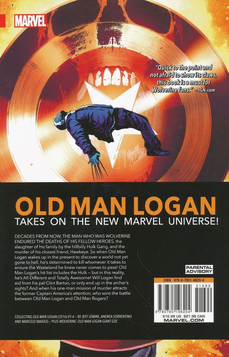 WOLVERINE OLD MAN LOGAN TP VOL 01 BERZERKER (Oferta ekspozycyjna)