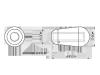 Nakładka przełącznika VPARTS SN-06 (BK)