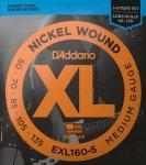 Struny D'ADDARIO Nickel EXL160-5 (50-135) 5str.