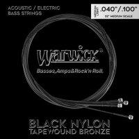 Struny WARWICK Black Nylon Tapewound MS (40-100)