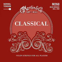 Struny do klasyka MARTIN Classical M260 Ball End