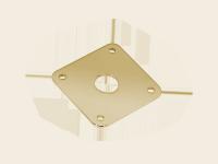 Płytka gniazda jack BOSTON JP-5 (GD)