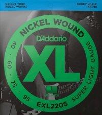 Struny D'ADDARIO XL Nickel Wound EXL220S (40-95)
