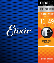 Struny ELIXIR NanoWeb Nickel Plated (11-49)