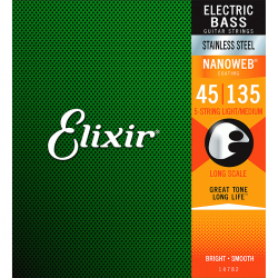 Struny do basu 5str ELIXIR StainlessSteel (45-135)