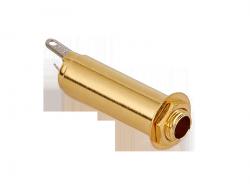 Cylindryczne gniazdo jack stereo MEC 50113 (GD)