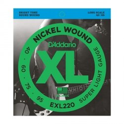 Struny D'ADDARIO XL Nickel Wound EXL220 (40-95)