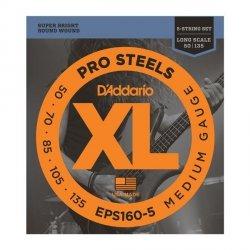 Struny D'ADDARIO ProSteels EPS160-5 (50-135) 5str.