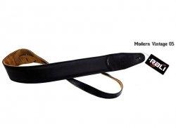Pasek skórzany RALI Modern Vintage 05 (czarny)