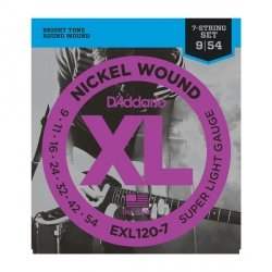 Struny D'ADDARIO XL Nickel EXL120-7 (09-54) 7str.
